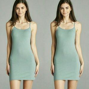 Dresses & Skirts - NWOT Sage Green Cami Dress w. Adjustable Strap